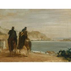Edgar Degas | Дега Эдгар - Прогулка у моря