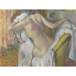 Edgar Degas | Дега Эдгар - После купания, вытирающаяся женщина