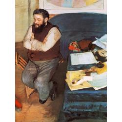 Edgar Degas | Дега Эдгар - Портрет Диего Мартелли