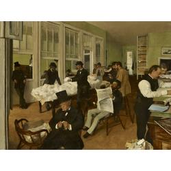 Edgar Degas | Дега Эдгар - Контора по торговле хлопком в Новом Орлеане