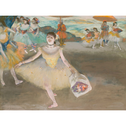 Edgar Degas - Dancer with bouquet, curtseying, 1877 | Дега Эдгар