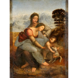 Leonardo Da Vinci -Леонардо да Винчи - Анна, Мария и младенец Иисус