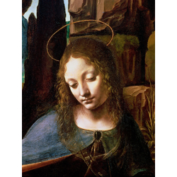 Leonardo da Vinci - Detail of the Head of the Virgin, from The Virgin of the Rocks, 1508 | Леонардо да Винчи