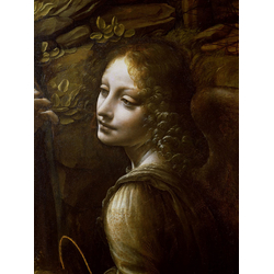Leonardo da Vinci - Detail of the Angel, from The Virgin of the Rocks, 1508 | Леонардо да Винчи