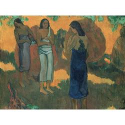 Paul Gauguin | Гоген Поль - Три таитянки на желтом фоне