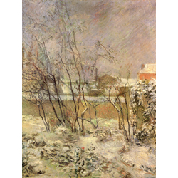 Paul Gauguin | Гоген Поль - Снег на Рю Каркель