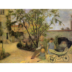 Paul Gauguin | Гоген Поль - Сад на Рю Каркель
