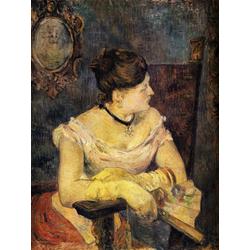 Paul Gauguin | Гоген Поль - Портрет мадам Гоген в вечернем платье