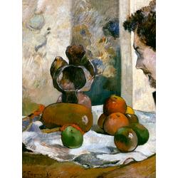Paul Gauguin | Гоген Поль - Натюрморт с профилем Шарля Лаваля