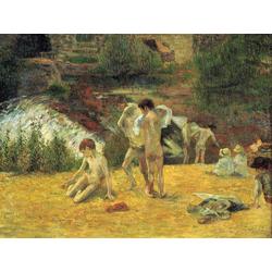 Paul Gauguin | Гоген Поль - Купальщица у мельницы Бойс дАмур, Понт-Авен