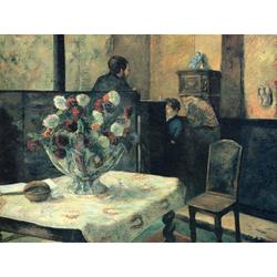 Paul Gauguin | Гоген Поль - Интерьер ателье художника на Рю Каркель