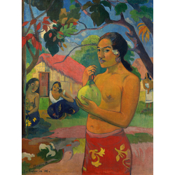 Paul Gauguin | Гоген Поль - Женщина, держащая плод