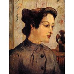 Paul Gauguin | Гоген Поль - Женщина с волосами, убранными в пучок