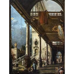 Francesco Guardi   Гварди Франческо - Крытая галерея