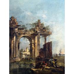 Francesco Guardi   Гварди Франческо - Каприччо с руинами на берегу моря
