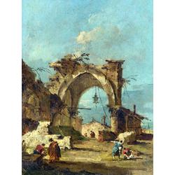 Francesco Guardi   Гварди Франческо - Каприччо с руинами арки