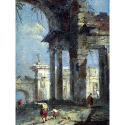 Francesco Guardi   Гварди Франческо - Каприччо с руинами