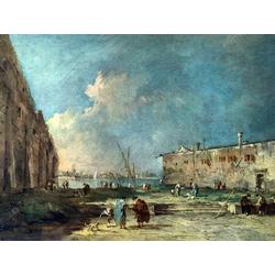 Francesco Guardi   Гварди Франческо - Вид рядом с Венецией