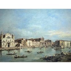 Francesco Guardi   Гварди Франческо - Вид на Большой канал между Санта Лючия и Скальци