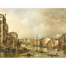 Francesco Guardi - View up the Grand Canal Toward the Rialto, 1785   Гварди Франческо