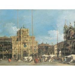 Francesco Guardi - The Torre dell Orologio in Piazza San Marco   Гварди Франческо