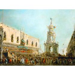 Francesco Guardi - The Doge Watching the Festival, 1766   Гварди Франческо