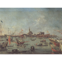 Francesco Guardi - The Doge of Venice on the Bucentaur, 1763   Гварди Франческо