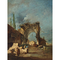 Francesco Guardi - A capriccio of buildings   Гварди Франческо