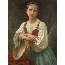Bouguereau William | Бугеро Вильям - Цыганская девочка с баскским бубном