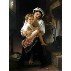 Bouguereau William | Бугеро Вильям - Молодая мать смотрит на своего ребенка