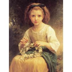 Bouguereau William | Бугеро Вильям - Девочка, плетущая венок