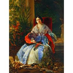 Karl Bryullov | Брюллов Карл - Портрет светлейшей княгини Елизаветы Павловны Салтыковой, 1841