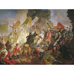 Karl Bryullov | Брюллов Карл - Осада Пскова польским королём Стефаном Баторием в 1581 году