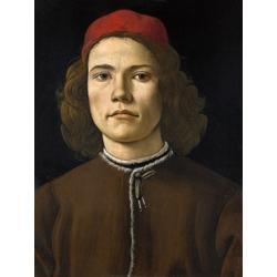 Sandro Botticelli   Сандро Боттичелли - Портрет молодого человека с медальоном