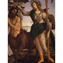 Sandro Botticelli - Athene and the Centaur, 1480   Сандро Боттичелли