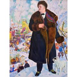Кустодиев Борис Михайлович - Портрет Шаляпина, 1922