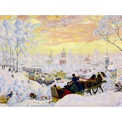 Кустодиев Борис Михайлович - Зима