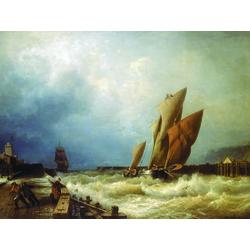 Боголюбов Алексей - Вход рыбачьего судна в бурю в гавань Сен-Валери