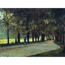 Боголюбов Алексей - Аллея в парке. Лихтенштейн, 1889