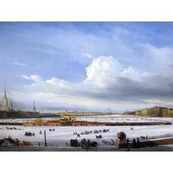 Боголюбов Алексей - Езда по Неве, 1854