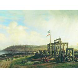 Боголюбов Алексей - Колокол прилавки на рынке в Нижнем Новгороде, 1862