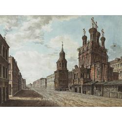 Алексеев Фёдор Яковлевич - Вид церкви Никола Большой крест на Ильинке