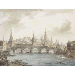 Алексеев Фёдор Яковлевич - Вид на Московский Кремль со стороны Каменного моста