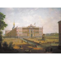 Алексеев Фёдор Яковлевич - Вид на Михайловский замок и площадь Коннетабля в Петербурге