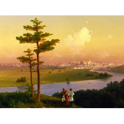 Aivazovsky Ivan   Айвазовский Иван - Вид на Москву с Воробьевых гор, 1848