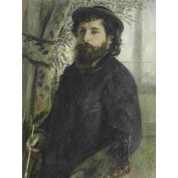 Claude Monet   Клод Моне - Портрет Пьера Огюста Ренуара
