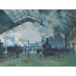 Monet Claude | Клод Моне | Вокзал Сен-Лазар