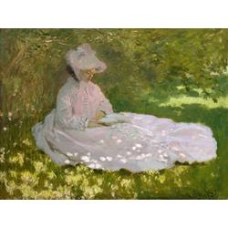 Monet Claude | Клод Моне | Женщина читает