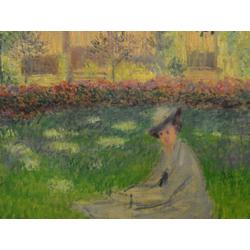 Monet Claude   Клод Моне - Дама в саду Сент-Адресс