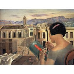 Salvador Dali | Сальвадор Дали | Женщина у окна в Фигерасе